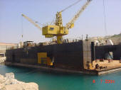 Floating dry dock for sale, lifting capacity 3500 tons
