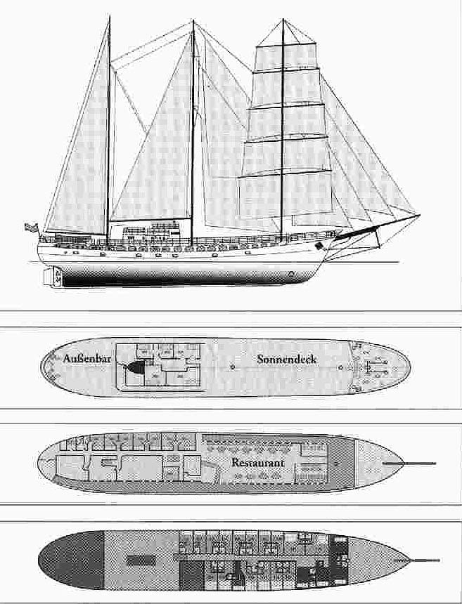 Barkentine tall ship for sale or charter for Deck plans for sale